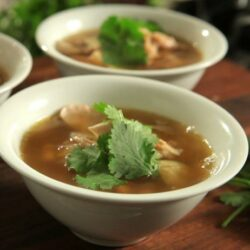 'Spring Chicken' Soup with Artichokes, White Beans and Lemongrass