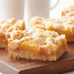 Brown Butter Peach Crumble Bars