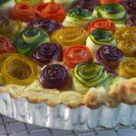Rainbow Rose Veggie Tart