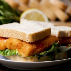 Fancy OF Fish Finger Sandwich