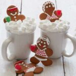 Gingerbread People in Gingerbread Hot Chocolate Tubs