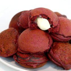 Red Velvet Mini Pancake Pockets