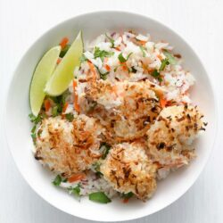 Coconut Shrimp with Tropical Rice