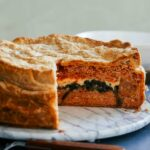 Puff Pastry-Wrapped Angel Hair Pasta Pie