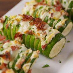 Jalapeño Popper Stuffed Zucchini