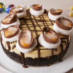 Cadbury Egg Cheesecake