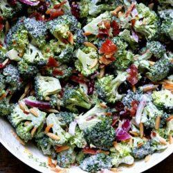 Cranberry-Almond Broccoli Salad