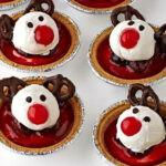 Reindeer Cherry Cheesecake Tarts