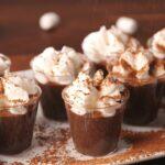 Hot Cocoa Pudding Shots