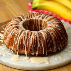 Candied Bacon and Banana Bundt Cake