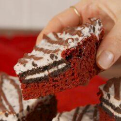 Red Velvet Cookies-and-Cream Bars