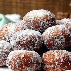 Caramel Chocolate Stuffed Doughnuts