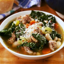 Sausage White Bean & Kale Soup