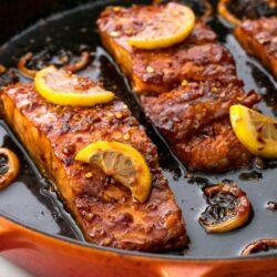Honey Garlic Glazed Salmon