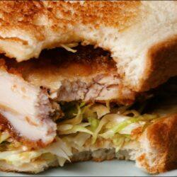 Giant Chicken Katsu Curry Sandwich