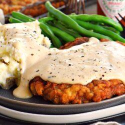 Chicken Fried Steak Dinner For Two