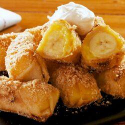 Banana Pudding Egg Rolls