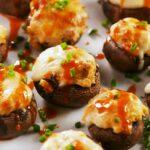 Buffalo Stuffed Mushrooms