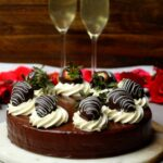 Chocolate Covered Strawberry Mousse Cake