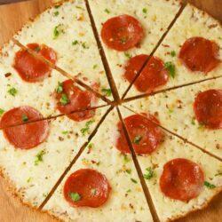 Crustless Pepperoni Pizza