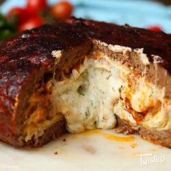 Giant Lasagna Stuffed Meatball