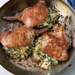 Spinach & Artichoke Stuffed Pork Chops