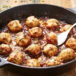 French Onion Chicken Meatballs