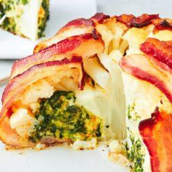 Bacon-Wrapped Cauliflower