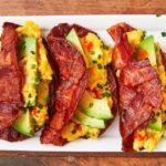 Bacon Weave Breakfast Tacos