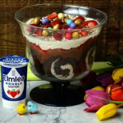 Easter Chocolate Swirl Cake Trifle