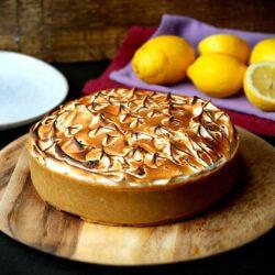 No Bake Lemon Meringue Mousse Cake