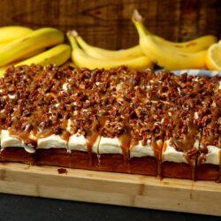 Sheet Pan Banana Bread Cheesecake