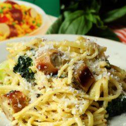 Creamy Chicken Sausage & Broccoli Pasta