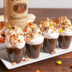 Reese's Cup Pudding Shots