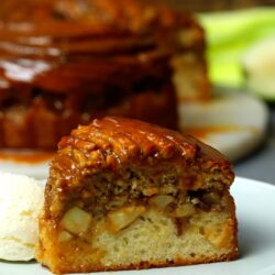 Cinnamon Swirl Topped Apple Cake