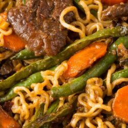 Ginger Beef Stir-Fry with Ramen