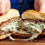 Spinach & Artichoke Stuffed Burgers