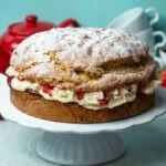 Eton Mess Scone Cake