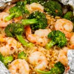 Shrimp, Broccoli and Rice Foil Packs