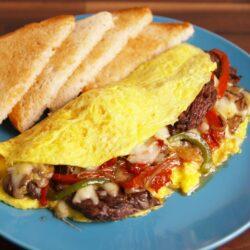 Philly Cheesesteak Omelet