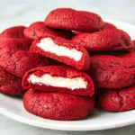 Inside Out Red Velvet Cookies