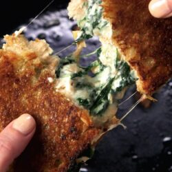 Spinach-Artichoke Dip Grilled Cheese