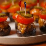 Burger Stuffed Mushrooms