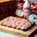 Baileys Strawberries & Cream Sticky Swirl Buns
