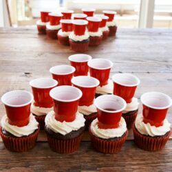Beer Pong Cupcakes
