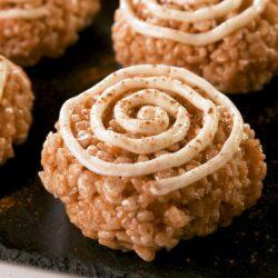 Cinnamon Roll Rice Krispies Treats
