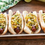 Grilled Street Corn Hot Dogs
