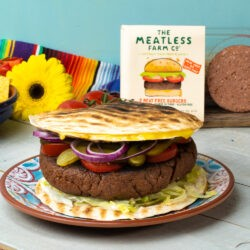 Giant Meatless BBQ Quesadilla Burger