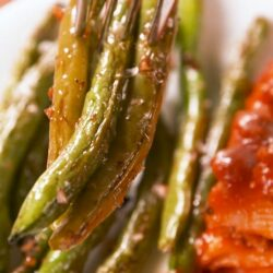 Balsamic Parm Roasted Green Beans