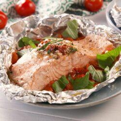 Tuscan Butter Salmon Foil Packs